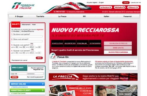 ヨーロッパの鉄道会社のWebサイ...
